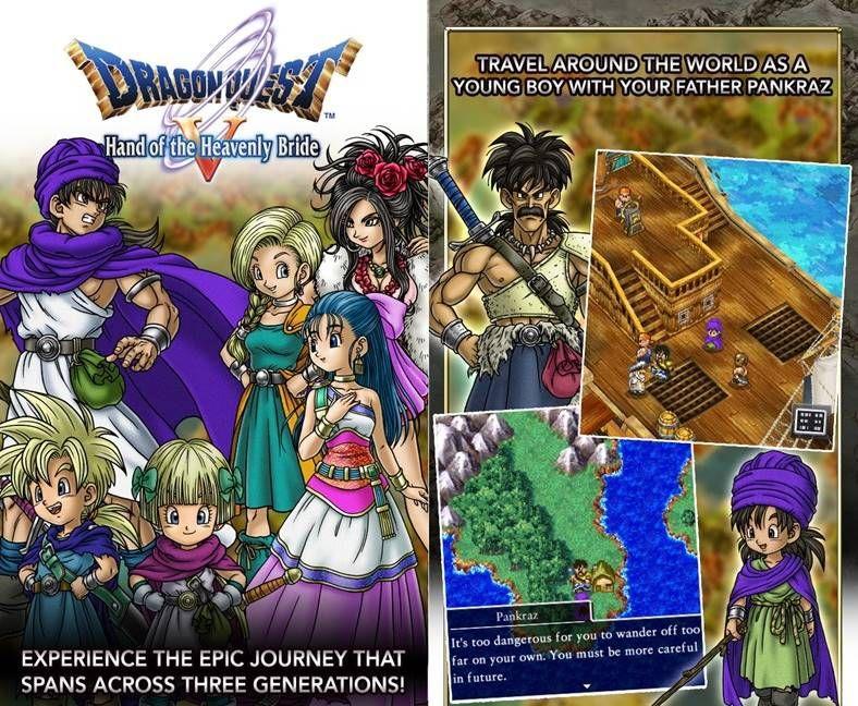 Dragon Quest V poate fi cumparat la oferta din App Store Romania