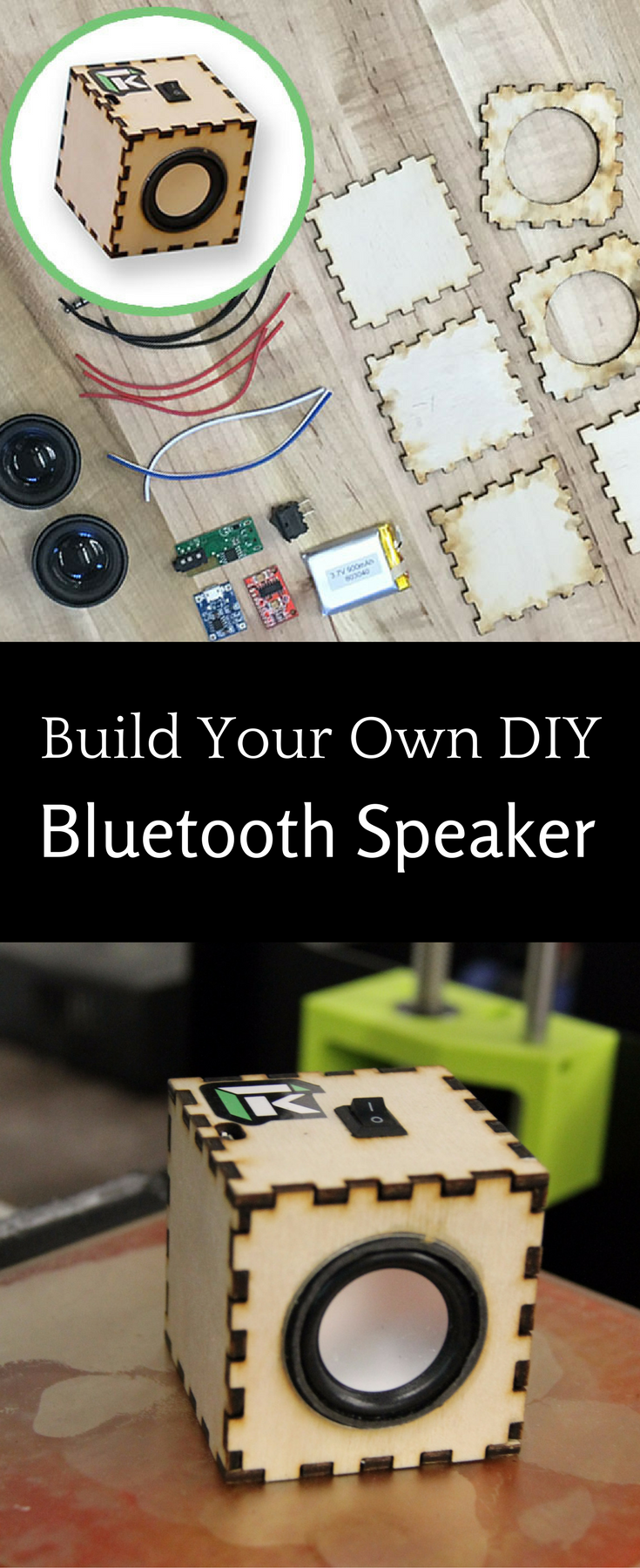 Create your own diy bluetooth speaker with this fun electronic maker create your own diy bluetooth speaker with this fun electronic maker kit solutioingenieria Choice Image