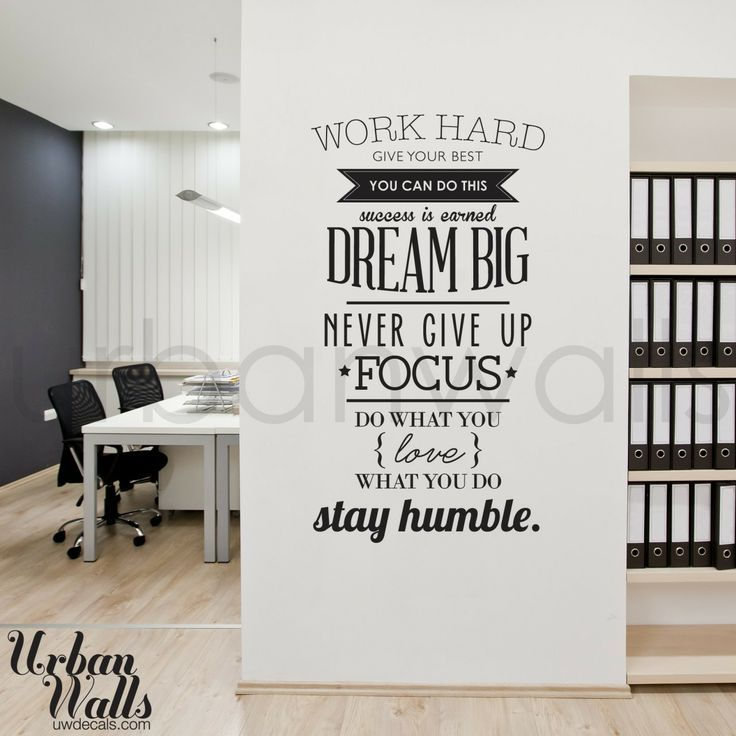 Do You Use Office Decals At Your Company Wordsofwisdom - Vinyl wall decals business