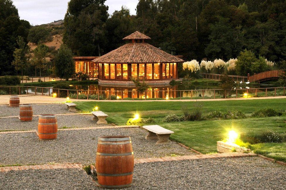 Restaurant at Matetic Vineyards, near Lagunillas, Valparaíso.