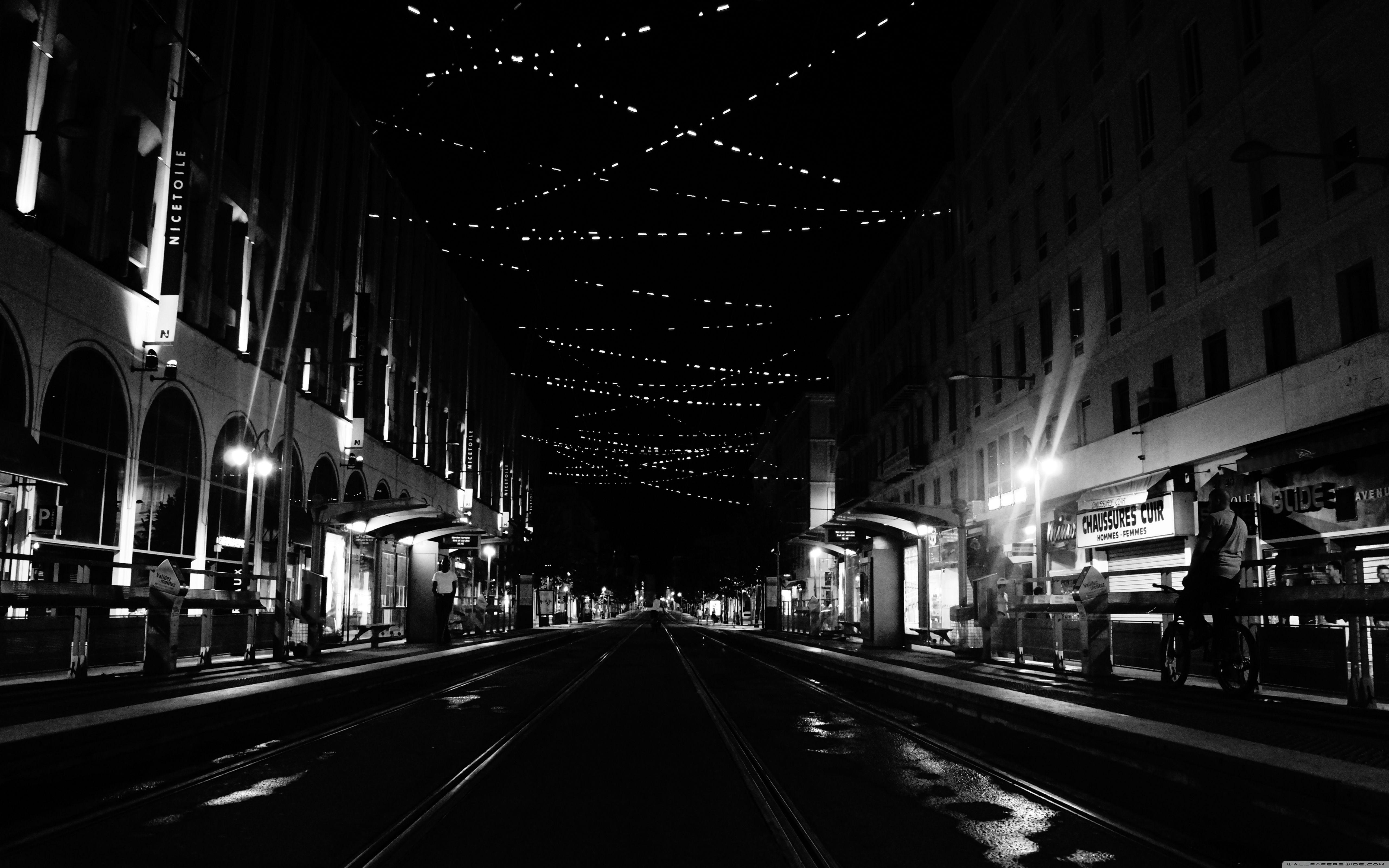 Big City At Night Wallpaper