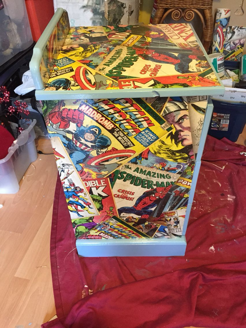 diy comic book desk. Varnished It With A Few Clear Coats, Turned Out Well I Think! Diy Comic Book Desk