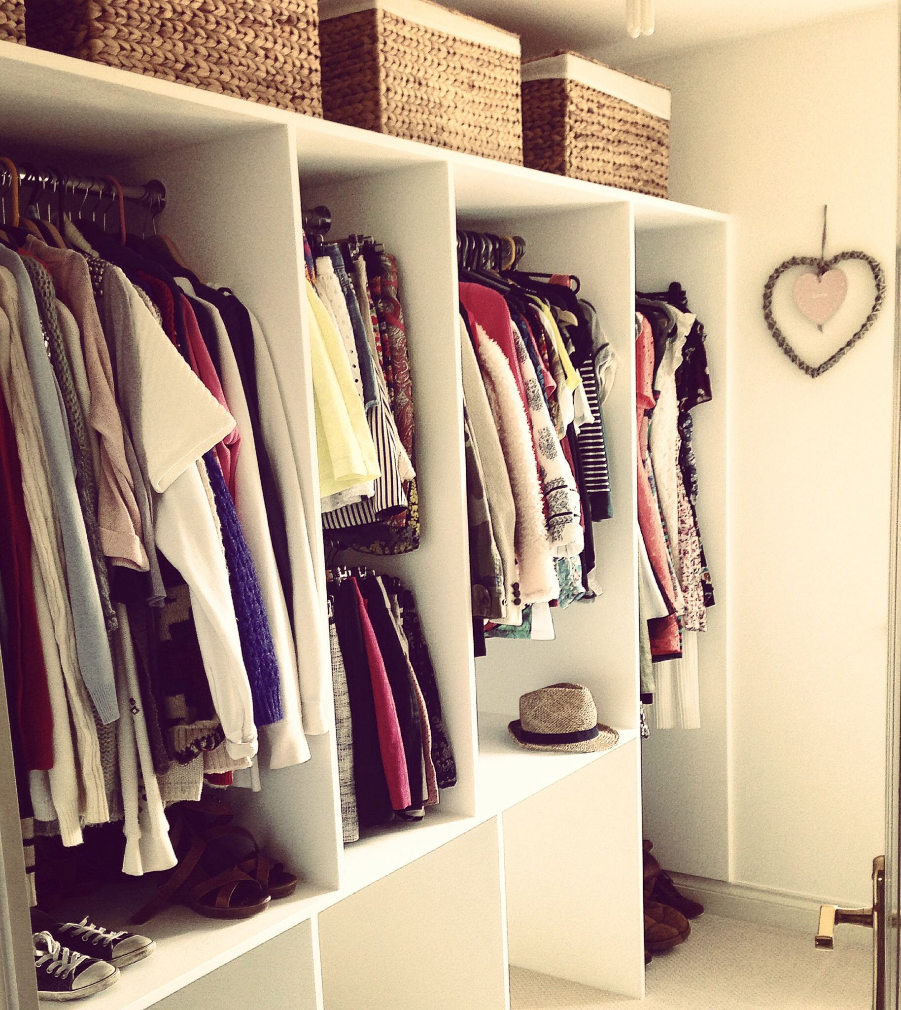 Walk in wardrobe for small room