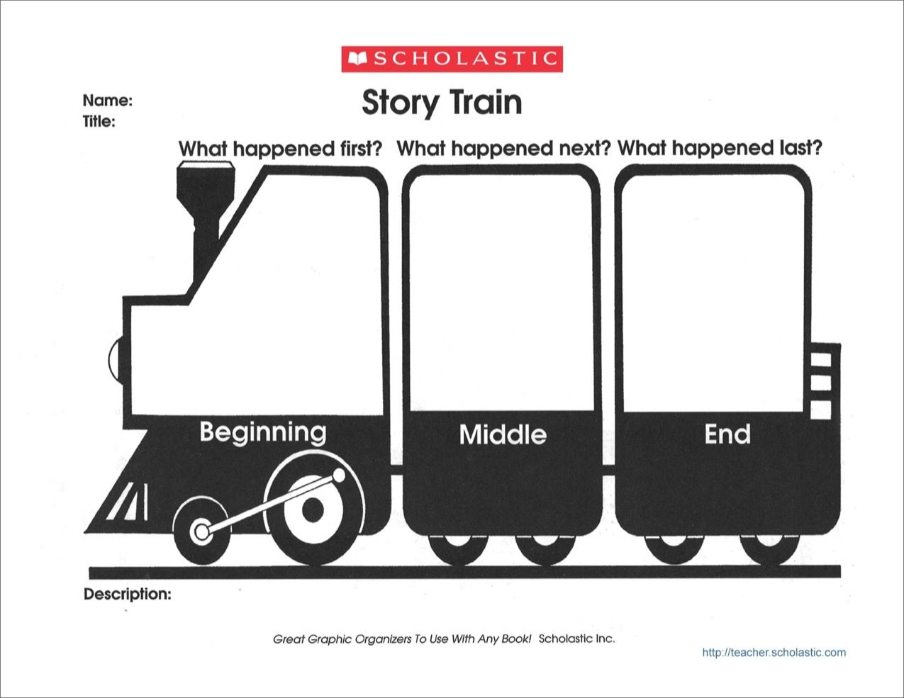 Graphic Organizer: Story Train - Scholastic Printables | Education ...