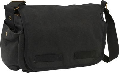 a95d7057bc47 Everest Large Cotton Canvas Messenger Bag Black - via eBags.com!