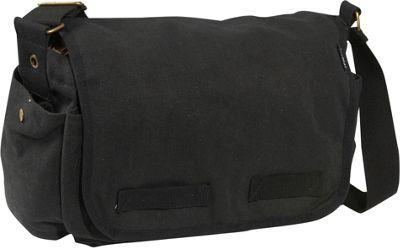 Everest Large Cotton Canvas Messenger Bag Black - via eBags.com! f154fa0ae0c2e