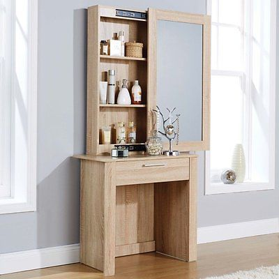 Bedroom Dressing Table Sliding Mirror Drawer Shelves Furniture Desk Oak Wood View More On The Lin Dressing Table Design Bedroom Dressing Table Furniture
