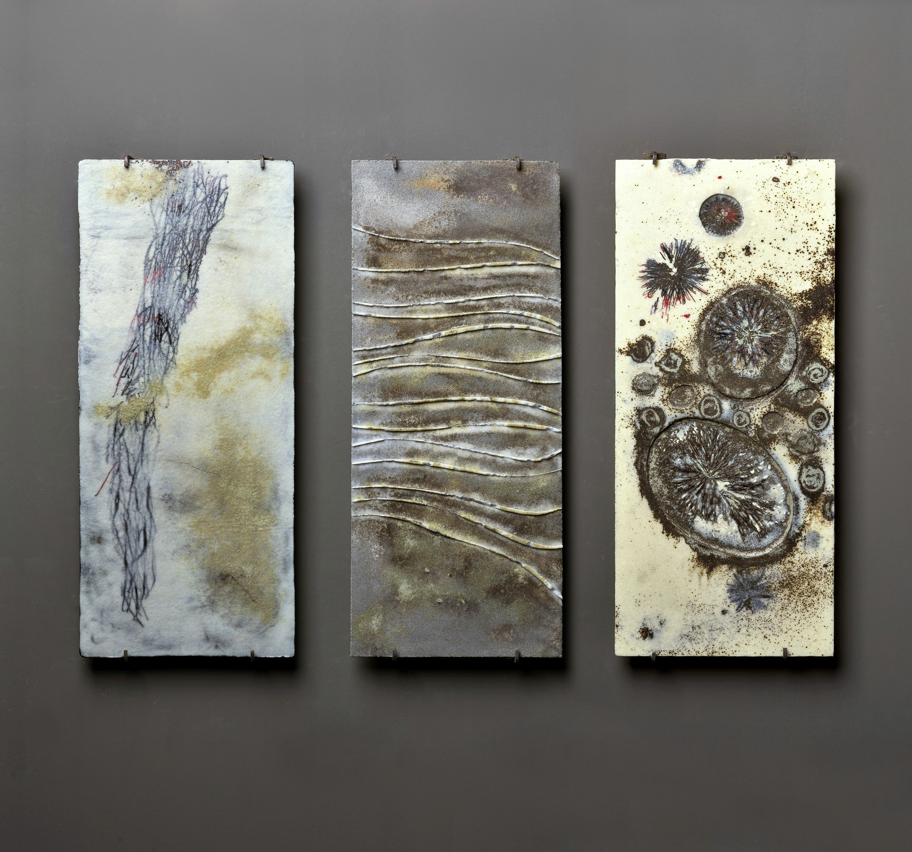 Desert Spirit Wall Panels 30x70 Cm Each Fused Glass And