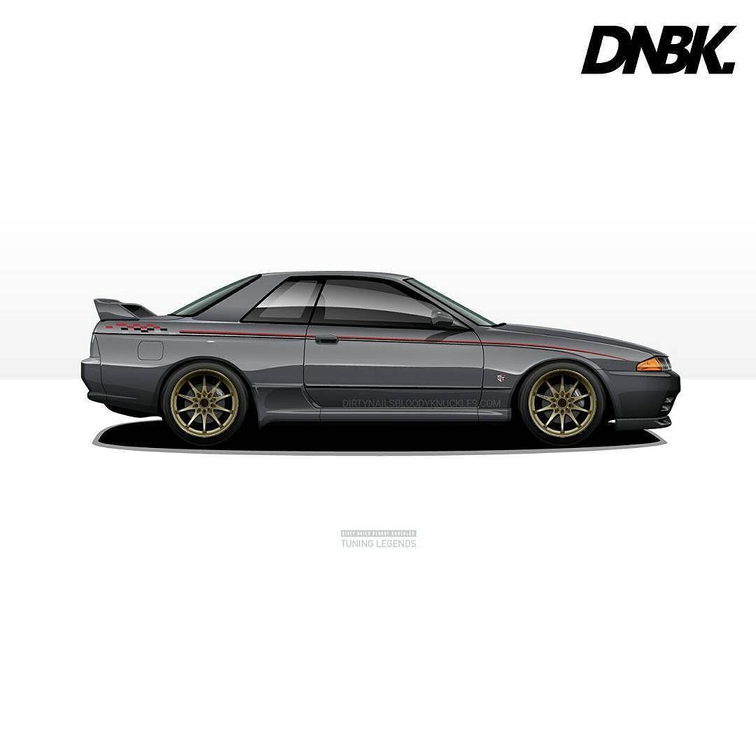 Gunmetal.  Dirtynailsbloodyknuckles.com  Link in profile  #nissan #skyline #gtr #nismo #godzilla #r32 #r32skyline #skylinegtr #nismoskyline #nissanskyline #nissangtr #twinturbo #jdm #jdmcars #illest #fatlace #speedhunters #iamthespeedhunter #carart #automotiveart #automotiveapparel #carswag #ce28 #ce28n #jdmlegends