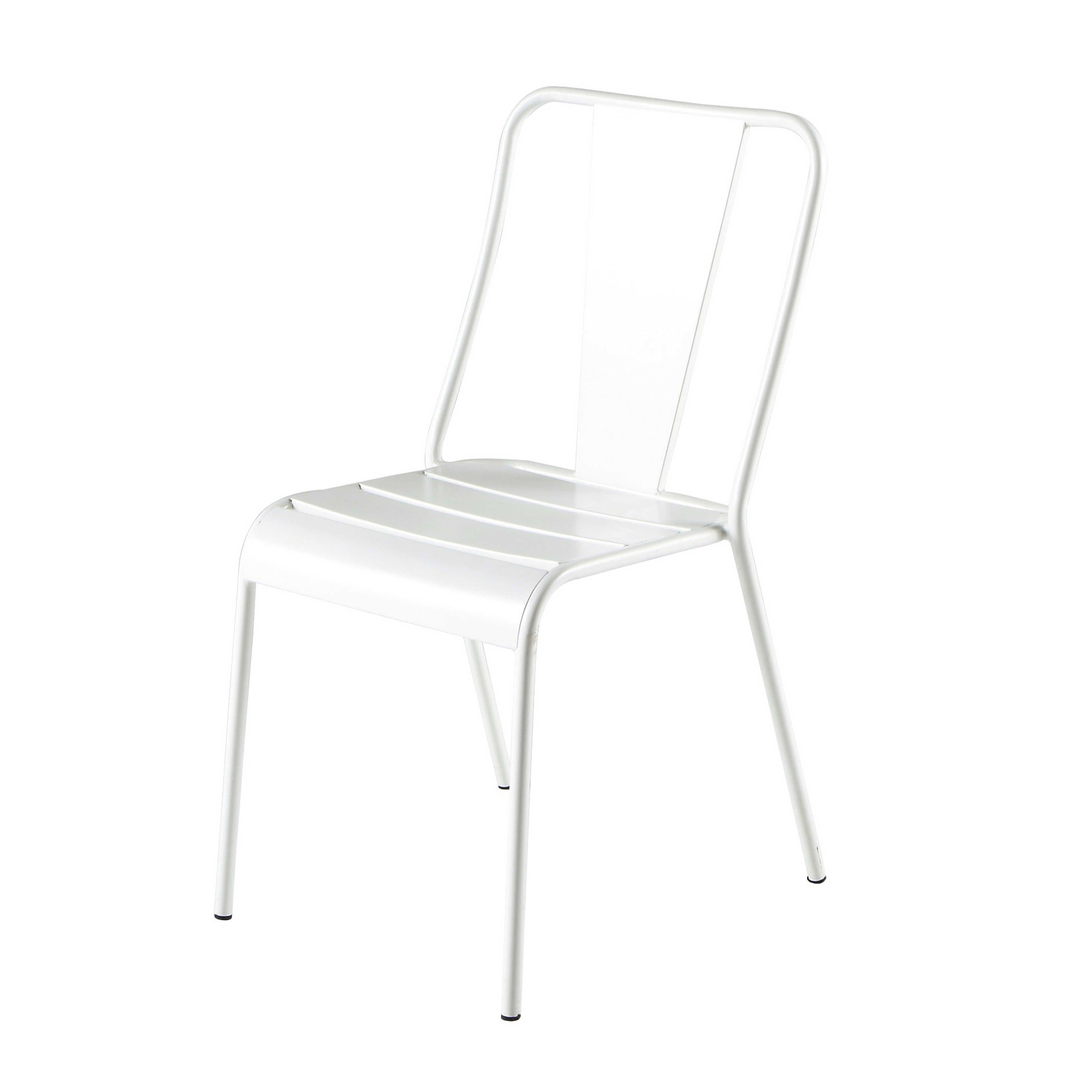 Chaise De Jardin En Metal Blanche Pinterest Chaises De Jardin En