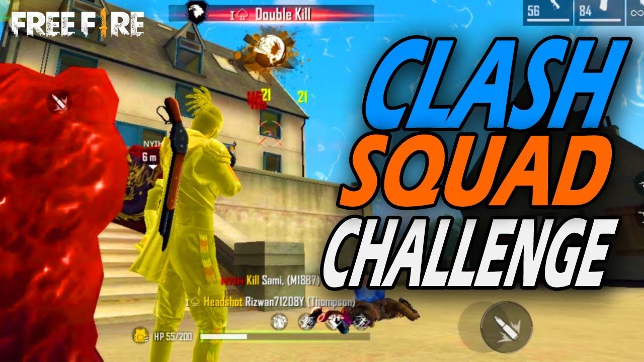 Free Fire Clash Squad Only Booyah Challege Tapajit Gamez Squad Game Game Logo Design Thumbnail Design