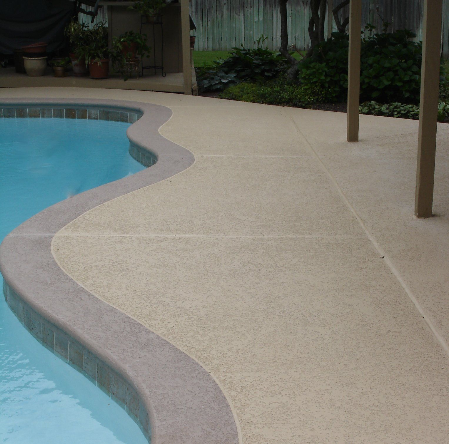 Outdoor Concrete Non Slippery Pool Area Decorative Concrete Overlays In Tulsa Beauty Crete Supplybeauty