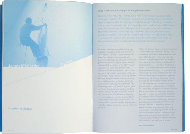 Mostly Harmless book spread for Govett-Brewster Art Gallery, by Studio Kalee Jackson www.kaleejackson.com