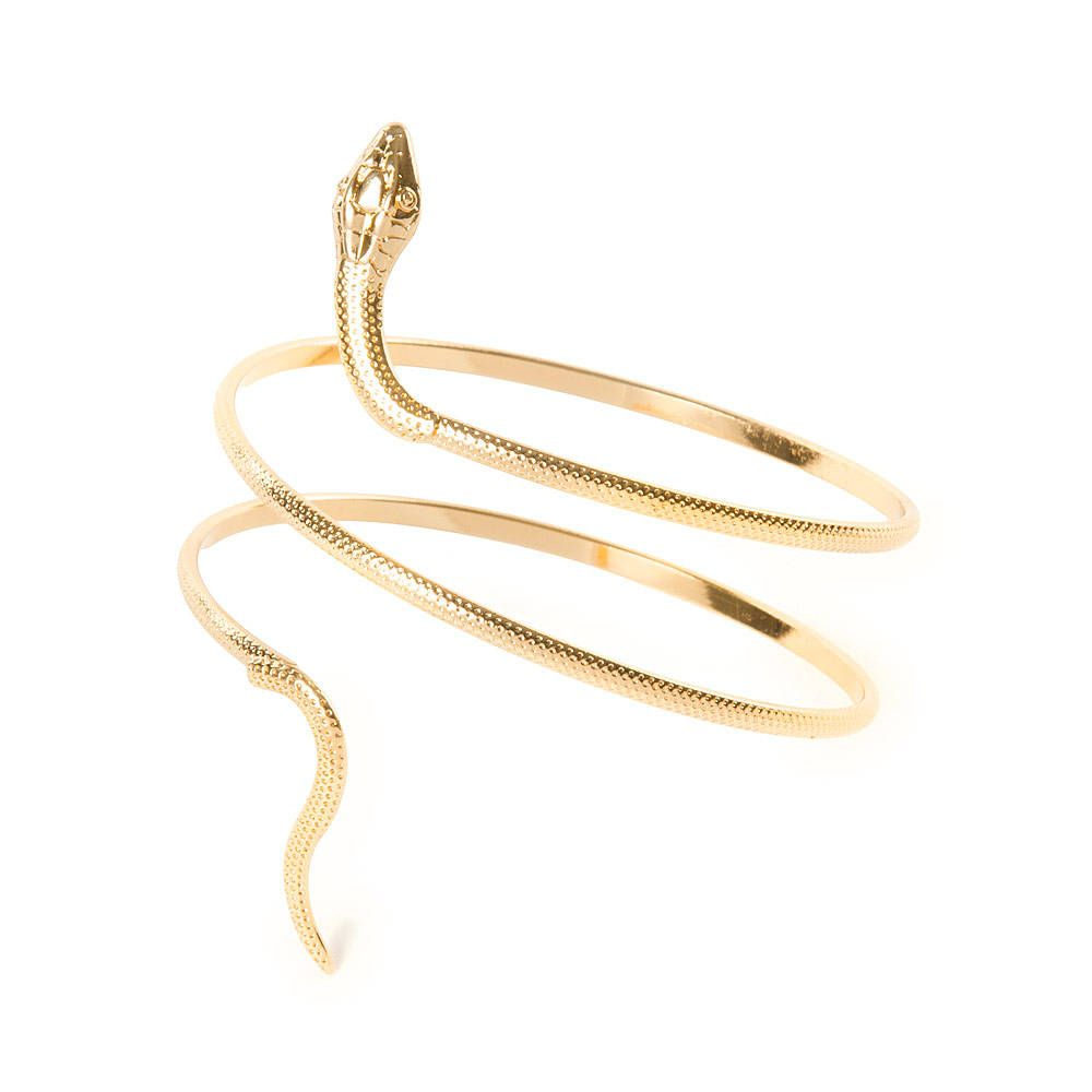 cadc4346cf1 Textured Gold Snake Wrap Around Arm Cuff Bracelet | Icing | Shine ...