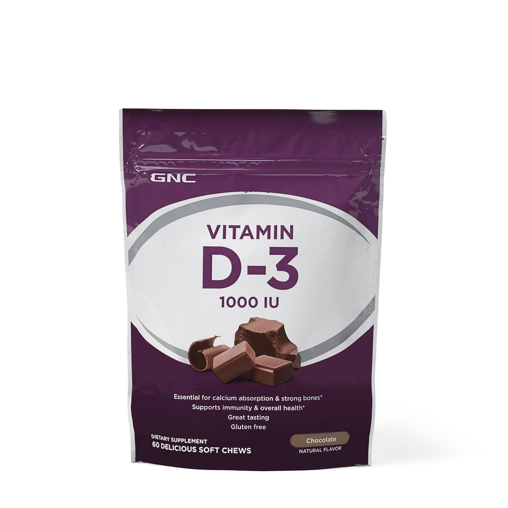 Vitamin Soft Chews D3 1000 Iu Chocolate,Vitamin D3