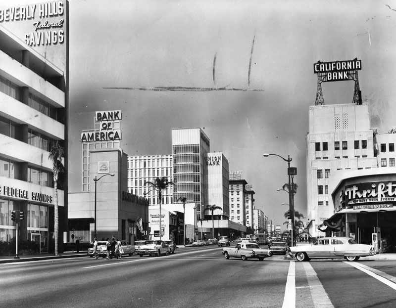 What Did Beverly Hills Look Like Back In The 1960s Los Angeles Hollywood Vintage Los Angeles Beverly Hills