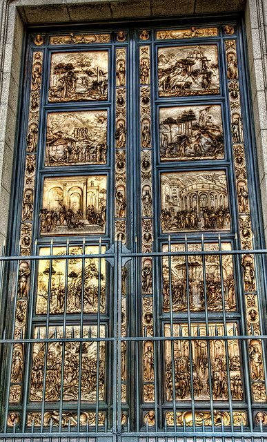 The Doors - Florence Italy - Ghiberti\u0027s Gates of Paradise. He beat out Brunelleschi for the design of the Florence baptistery doors. & The Doors - Florence Italy - Ghiberti\u0027s Gates of Paradise. He beat ...