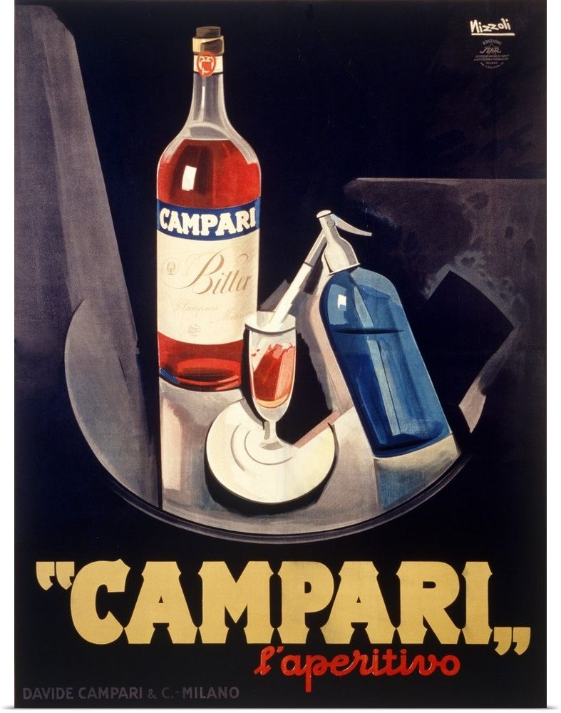 Art Print Poster //Canvas  APEROL APERITIVO POSTER ALCOHOL DRINK