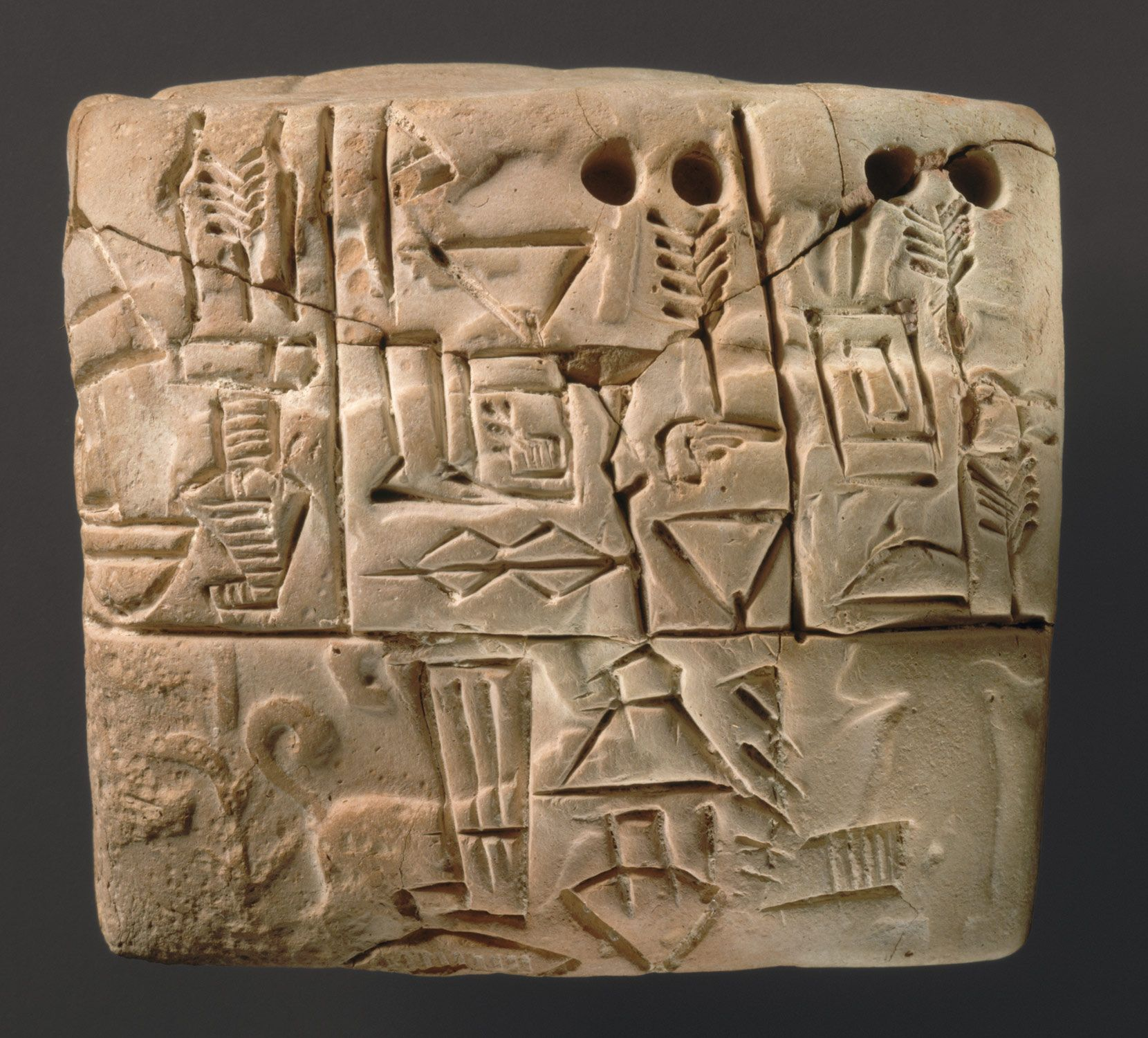 Mesopotamia, 8000–2000 B.C. Cuneiform tablet ...