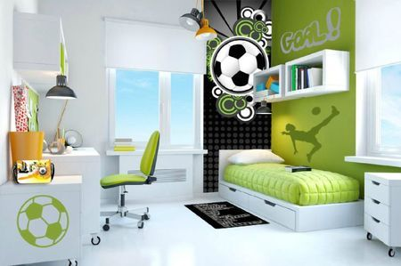 new - chambre-ado-tons-verts-tracés-PP-foot Deco Pinterest Room