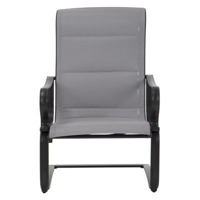 6234dece22da 'It's a Snap' 2pk Padded Sling Motion Chairs - Charcoal Gray/Light Gray - Cosco  Outdoor Living. '