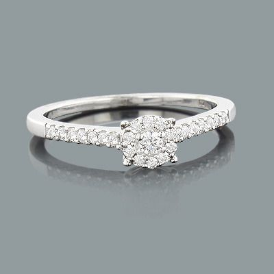 Cheap Engagement Rings This Sterling Silver Diamond Ring