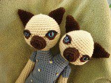 Amigurumis Gato Siames : Amigurumi gato siames cabezas gatos gato y juguetes