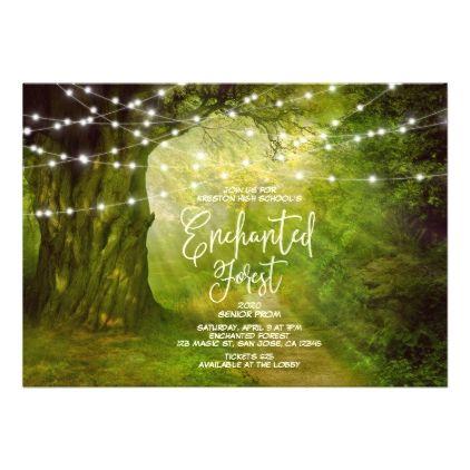 enchanted forest string lights prom invitations invitations custom