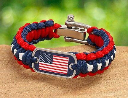 Us Flag Survival Bracelet Survival Straps Paracord Bracelets