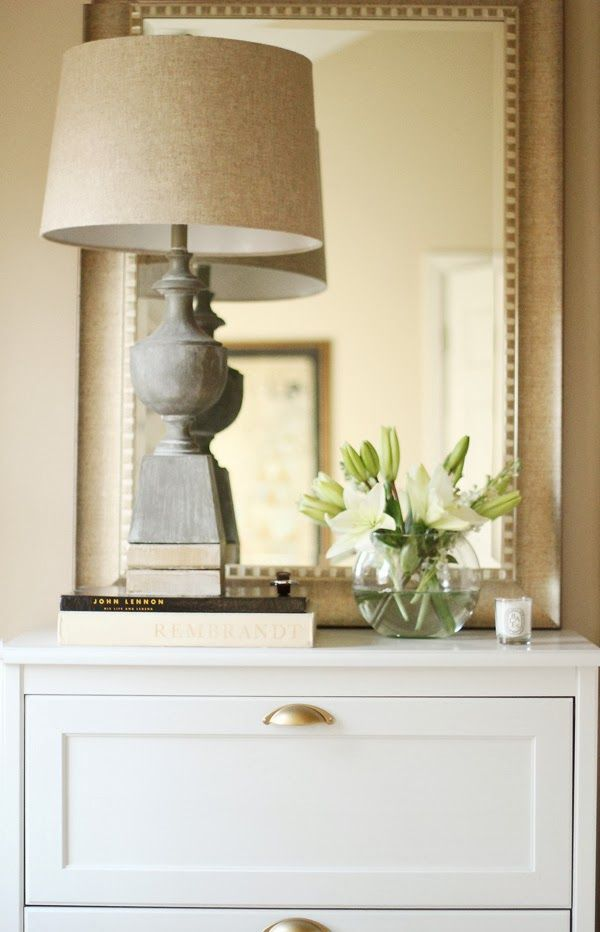 Oversized tall mirrors used on nightstand flanking the for Tall bedroom mirror