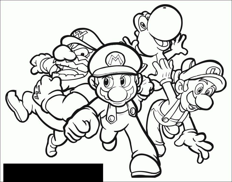 Mario Coloring Pages Mario Luigi Wario And Yoshi Mario Bros Kids Coloring Pages Entitlementtrap Com Mario Bros Para Colorear Libro De Colores Paginas Para Colorear Para Ninos