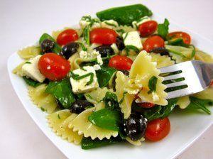 Greek Basil Bow Tie Pasta Salad is a great make-ahead recipe for a party Basil Bow Tie Pasta Salad is a great make-ahead recipe for a party