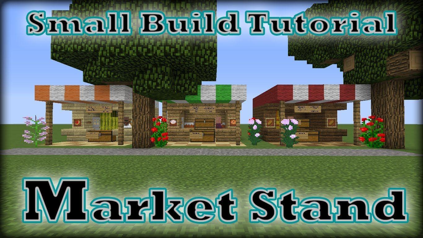 Minecraft Smallbuild Tutorial Market Stand Minecraft
