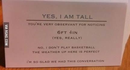 Business Cards For Tall People I Kinda Need This Just