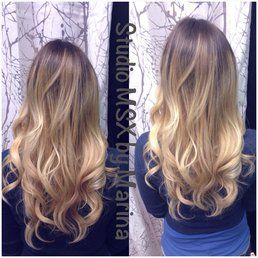 Cool Ash Blonde Hair Color Blayage Ombre Before And After
