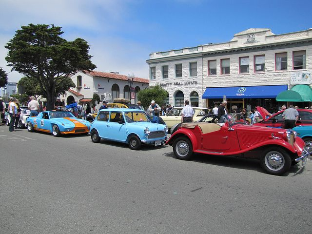 The Little Car Show In Pacific Grove CA During Monterey Auto Week - Car events this weekend