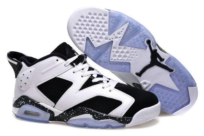 632f662f2cdc Authentic Cheap Air Jordan 6 Original Authentic Cheap Air Jordan 6 Retro  Low Oreo White Black Sale Online