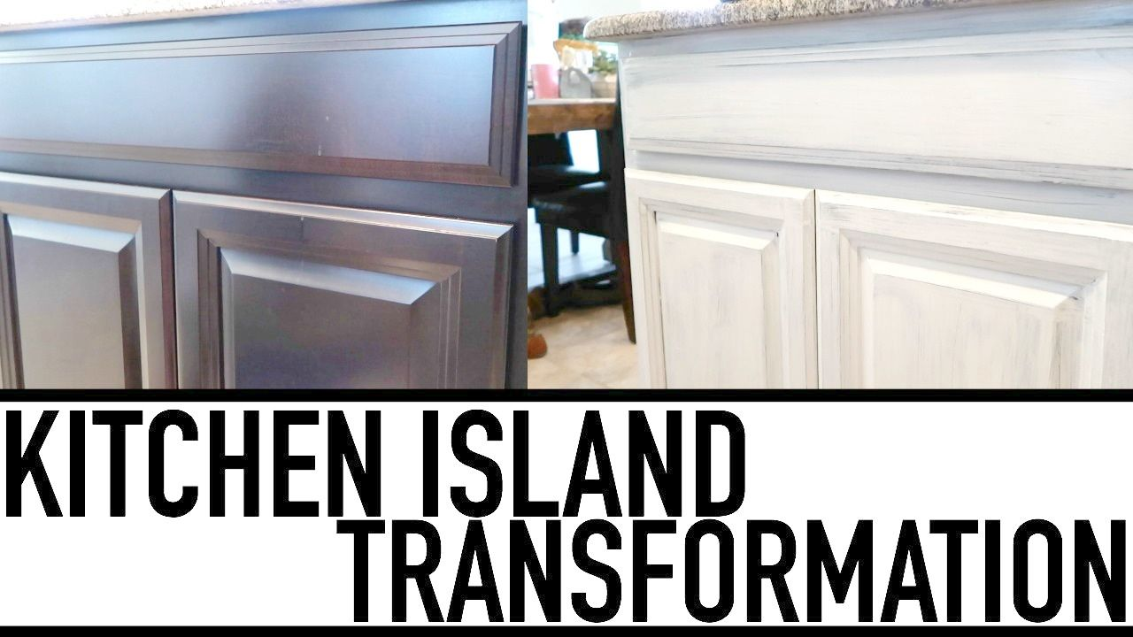 Diy Painting Kitchen Island White Using Chalk Paint Kitchen Makeover Kitchen Paint Chalk Paint Kitchen Kitchen Makeover