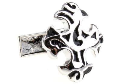 ornate silver cross cufflinks