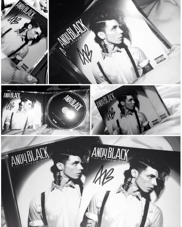 Andy Black. Debut album 'The Shadow Side'. Do not own image.