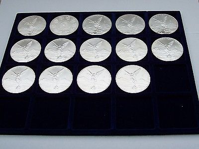 Mexiko - Libertad Siegesgöttin 14 x 1 Unze Silbermünze, Jahrgang 2010 - 2015sparen25.com , sparen25.de , sparen25.info