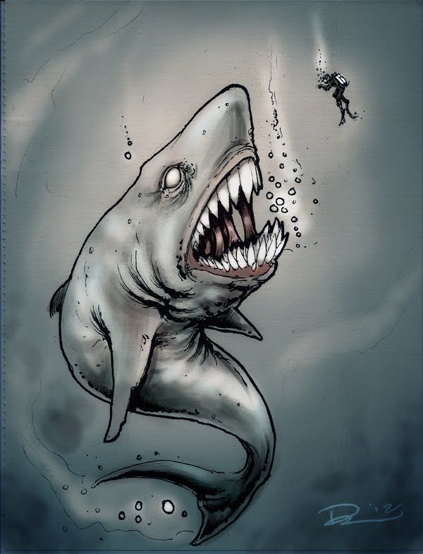 Крутые рисунки акул