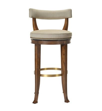 Newbury Swivel Curved Back Counter Stool from the 1911 Collection  collection by Hickory Chair Furniture Co