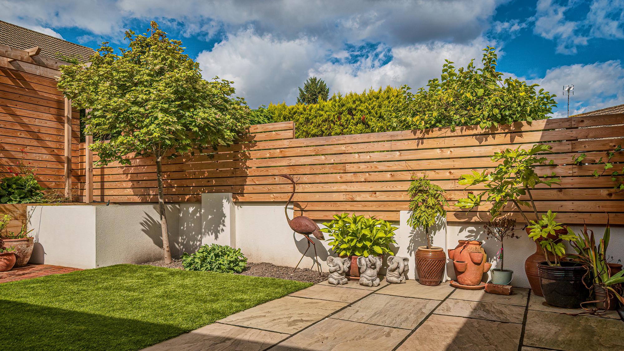 Completed Garden Landscape Design Raised Planter Outdoor Decor
