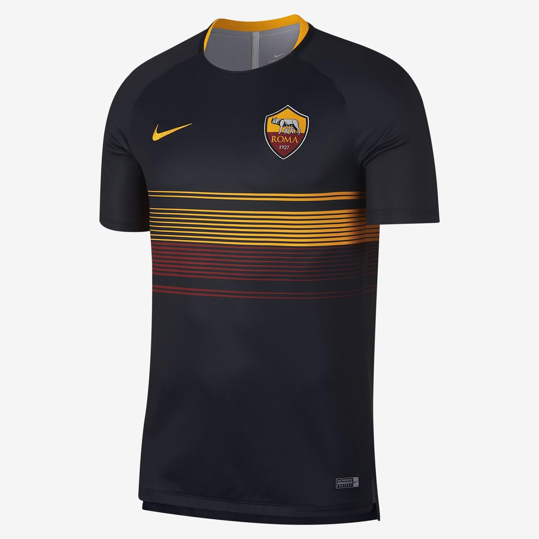 A S Roma Dri Fit Squad Men S Soccer Top Camiseta Moda Masculina Esportes