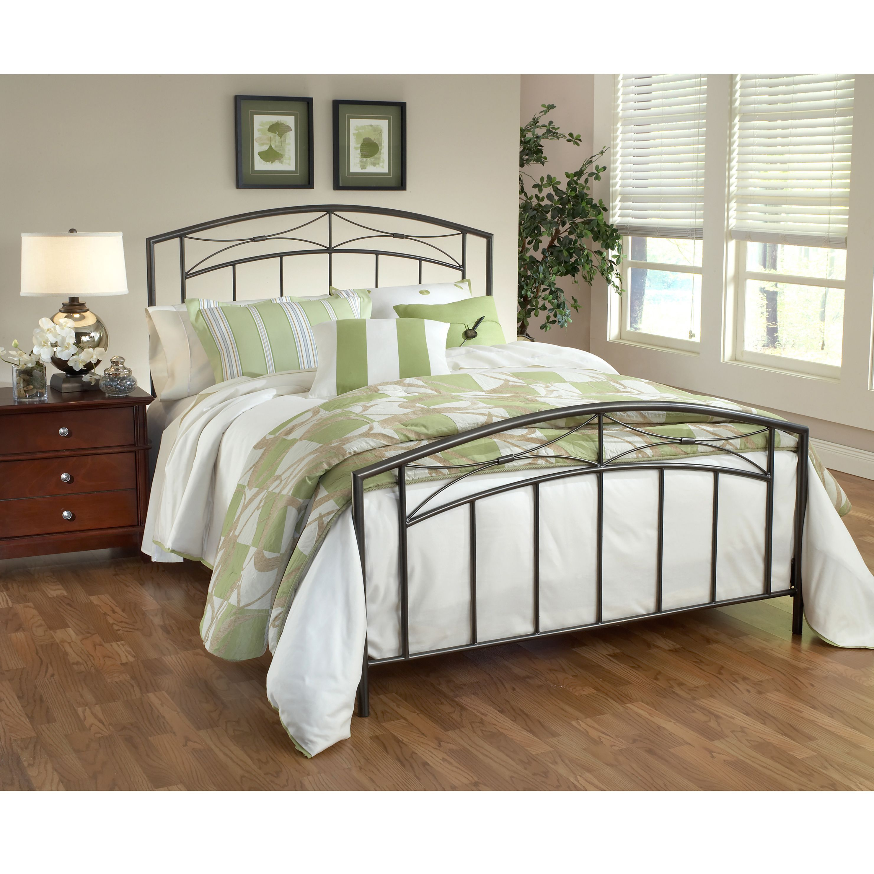 Hillsdale Morris Bed Set (Queen), Silver pewter | Pinterest | Camas