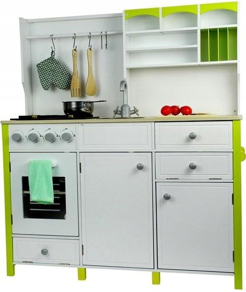 Duza Drewniana Kuchnia Dla Dzieci Akcesoria Kitchen Cabinets Home Decor Kitchen