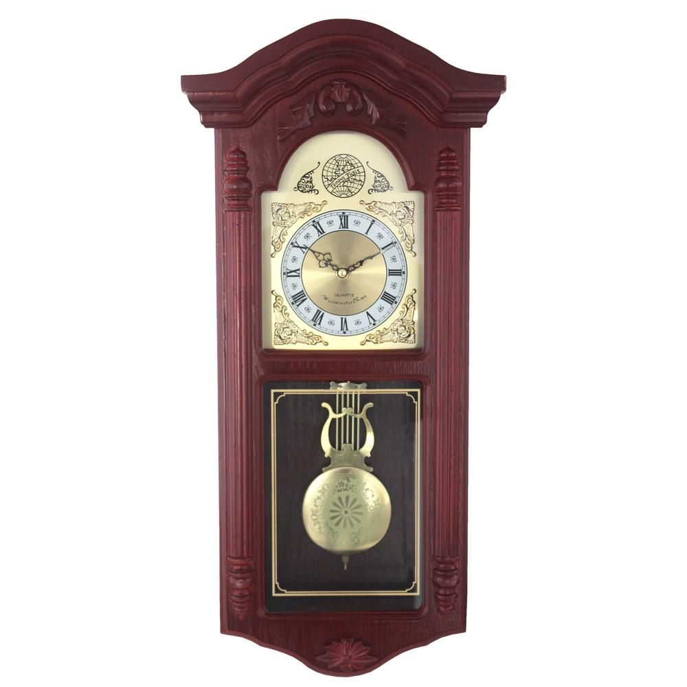 Unbranded European Wood Cherry Wall Clock-2052C - The Home ...