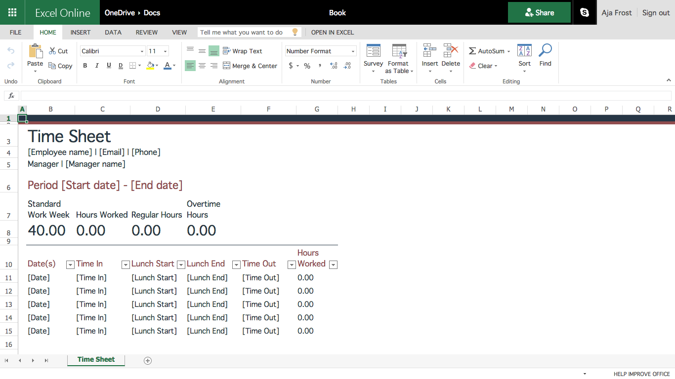 How To Build An Excel Spreadsheet Document Templates Excel Family Budget Planner
