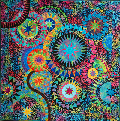 The Colourful Quilt by Susan Garrity, design by Jacqueline de ... : quilts by the bay - Adamdwight.com